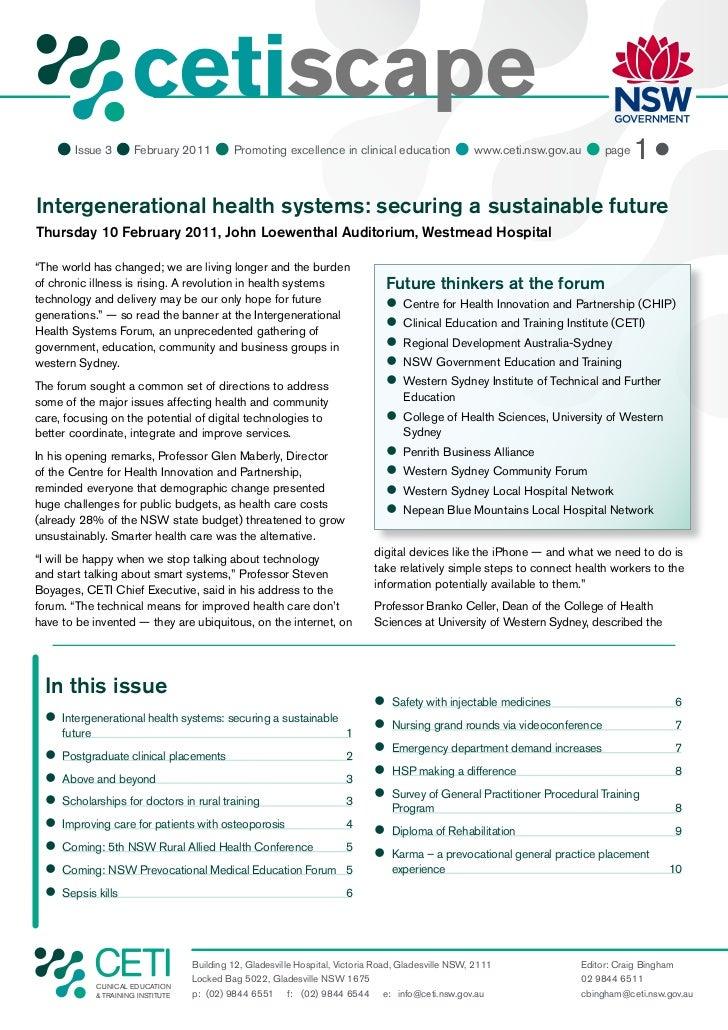 cetiscape                          CLINICAL EDUCATION                          & TRAINING INSTITUTE     Issue 3  Februar...