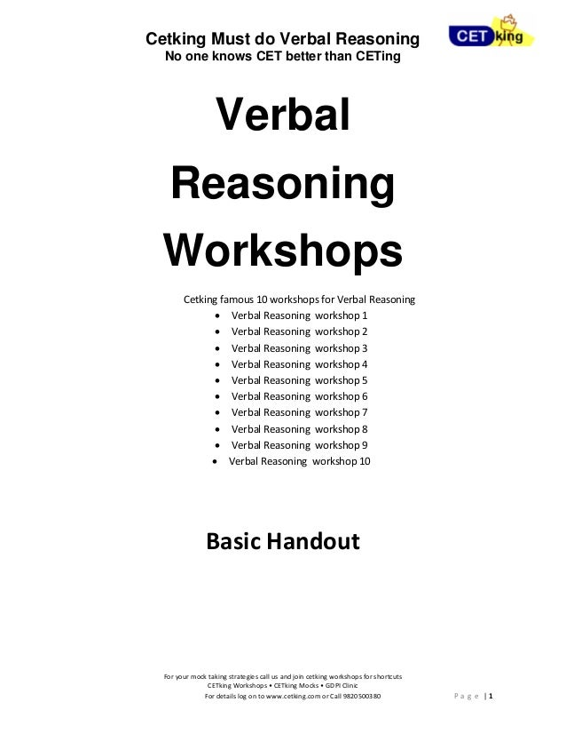 cetking verbal reasoning cause and effect must do questions maharasht u2026