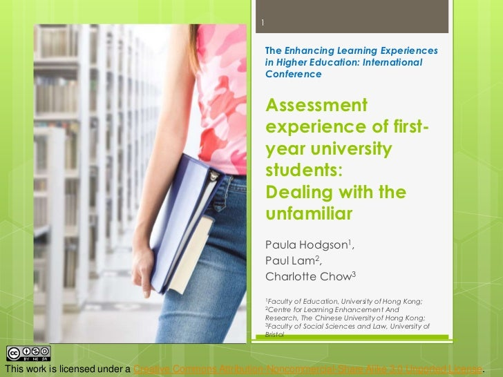 TheEnhancing Learning Experiences in Higher Education: International Conference Assessment experience of first-year univer...