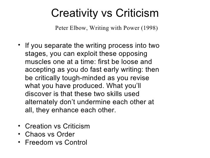 freewriting by peter elbow Of course freewriting is not the only way i teach thinking through writing i peter  elbow is the director of writing pro- grams at the state university of new york.