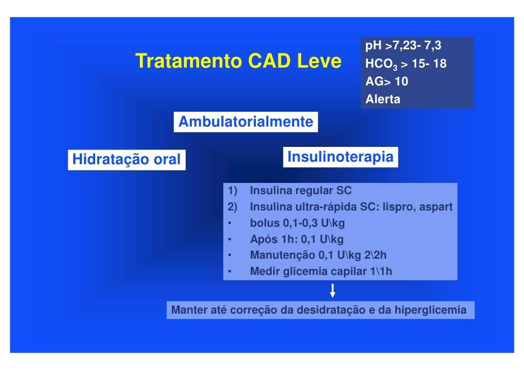 pH >7,23- 7,3         Tratamento CAD Leve                       HCO3 > 15- 18                                             ...