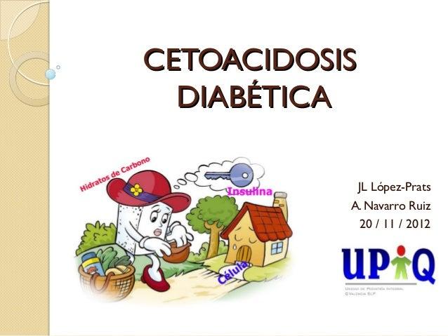 CETOACIDOSIS  DIABÉTICA            JL López-Prats           A. Navarro Ruiz             20 / 11 / 2012