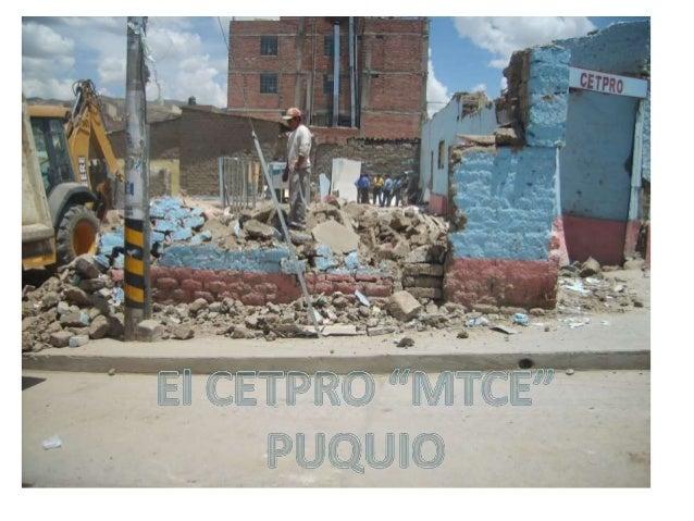 """EL CETPRO """"MTCE"""""""