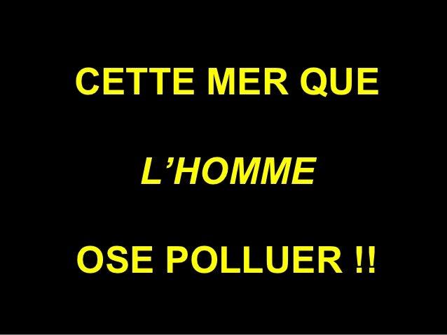 CETTE MER QUE  L'HOMMEOSE POLLUER !!