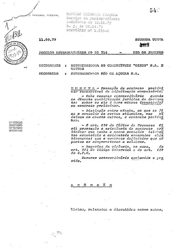 (2) Acórdão e 88716Ementa RE