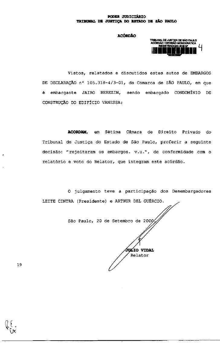 PODER JUDICIÁRIO              TRIBUNAL DE JUSTIÇA DO ESTADO DE SÃO PAULO                                   ACÓRDÃO        ...