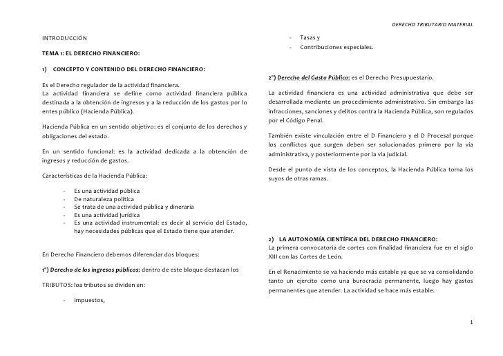 DERECHO TRIBUTARIO MATERIALINTRODUCCIÓN                                                                        -   Tasas y...