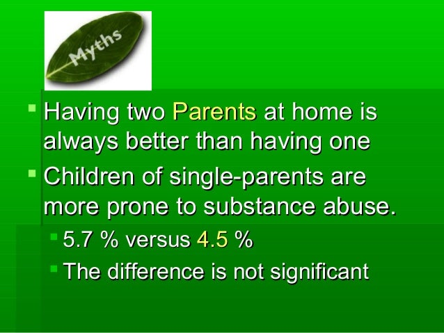  Having twoHaving two ParentsParents at home isat home is always better than having onealways better than having one  Ch...