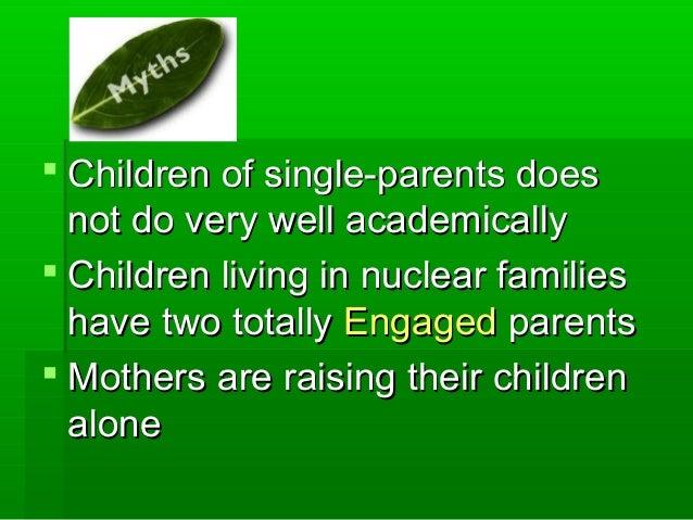  Children of single-parents doesChildren of single-parents does not do very well academicallynot do very well academicall...