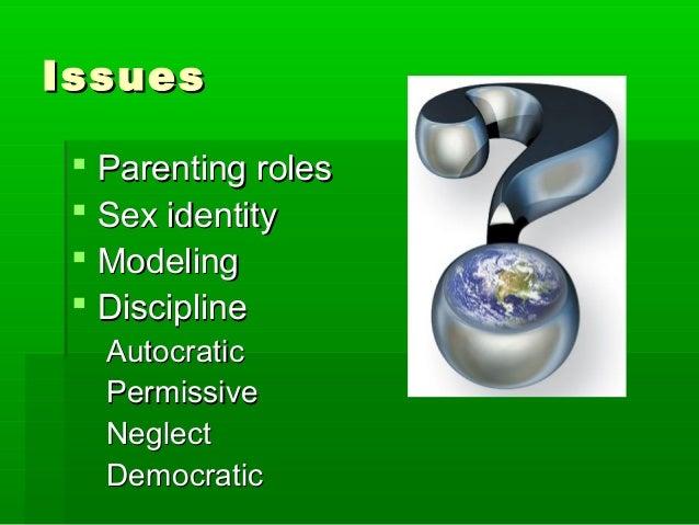 IssuesIssues  Parenting rolesParenting roles  Sex identitySex identity  ModelingModeling  DisciplineDiscipline Autocra...