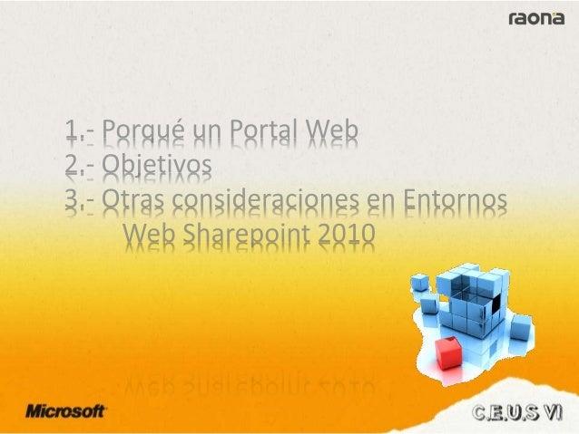 Raona - Web pública con SharePoint 2010 Slide 3