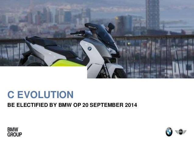 C EVOLUTION  BE ELECTIFIED BY BMW OP 20 SEPTEMBER 2014