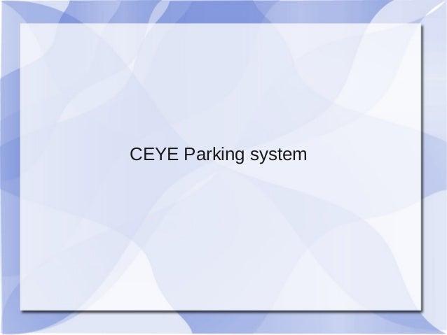 CEYE Parking system
