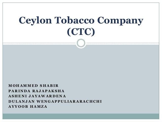 Ceylon Tobacco Company Ctc