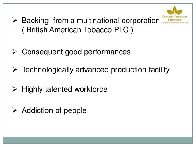 pest analysis british american tobacco Pestel analysis of imperial tobacco imperial tobacco is a company specialising in tobacco related products such as cigarettes, cigars, rolling paper and.