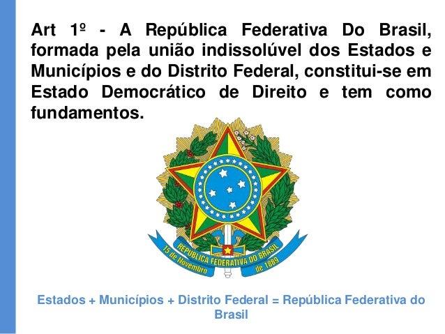 constituição federal 88 título i11072 Artigo 1 Da Constituicao Federal De 1988 #1