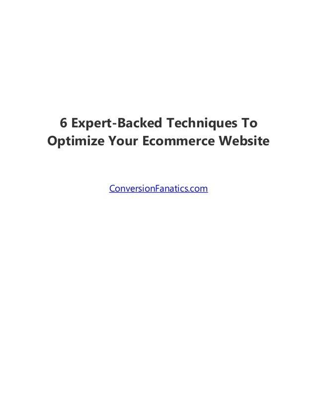 6 Expert-Backed Techniques To Optimize Your Ecommerce Website ConversionFanatics.com