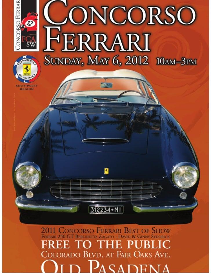 Concorso Ferrari Pasadena 2012