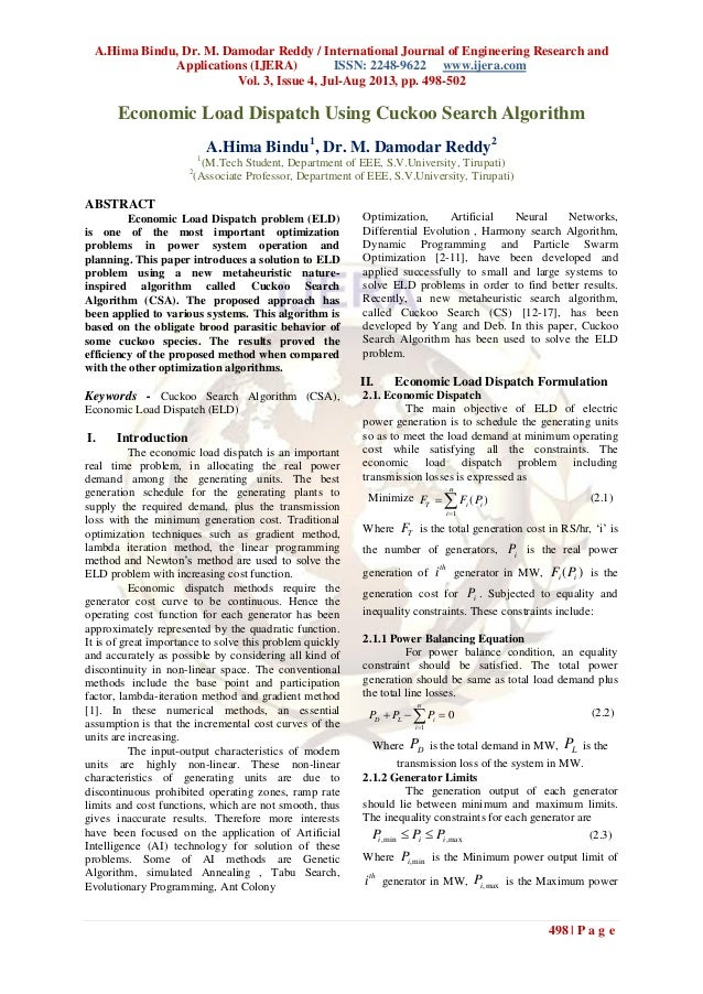 A.Hima Bindu, Dr. M. Damodar Reddy / International Journal of Engineering Research and Applications (IJERA) ISSN: 2248-962...