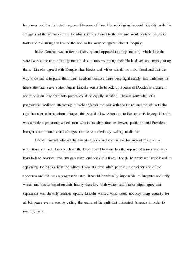 Abraham Lincoln Dred Scott Essay