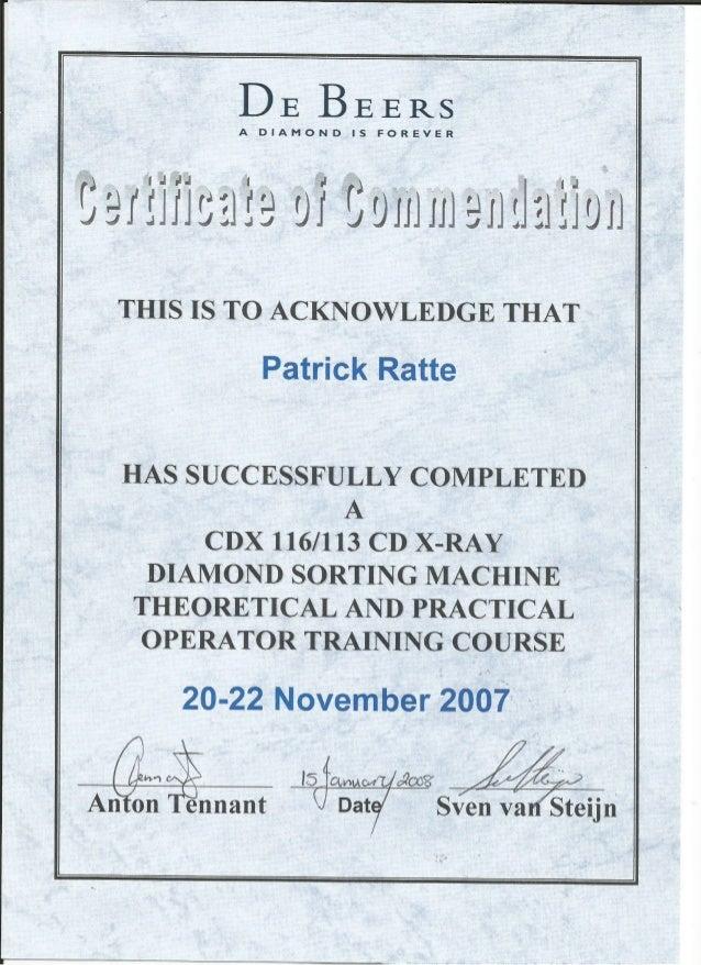 Certificate Cdx Cd X Ray