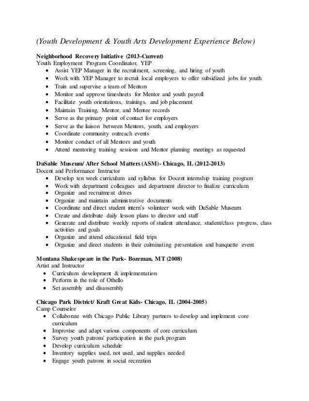 Academic CV Performance Resume