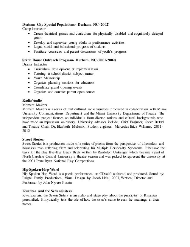 how to make a performance resume