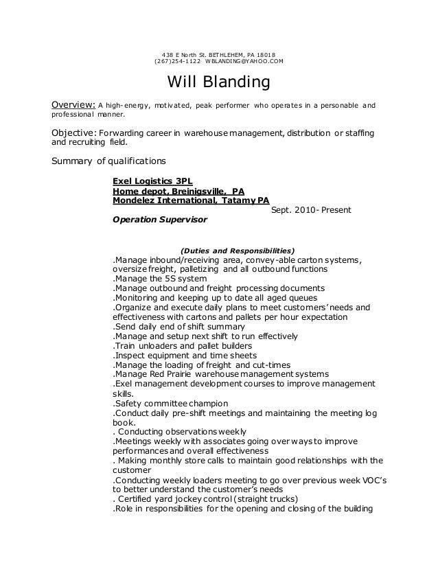 will blanding s resume 2