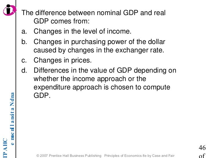 difference between gdp and real gdp