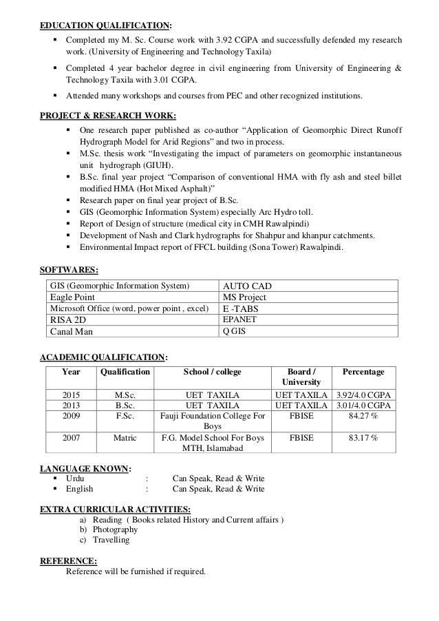 msc thesis format uet taxila