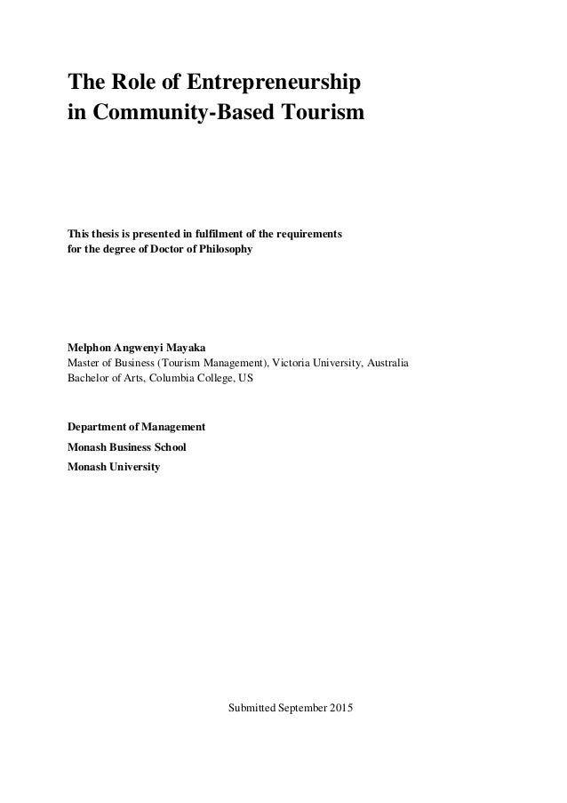 Phd thesis on entrepreneurship