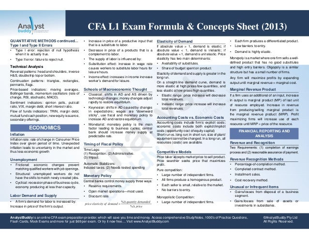 cfa l3 formula quizlet The balance sheet, also called the statement of financial position, is the third general purpose financial statement prepared during the accounting cycle it reports a company's assets, liabilities, and equity at a single moment in time.