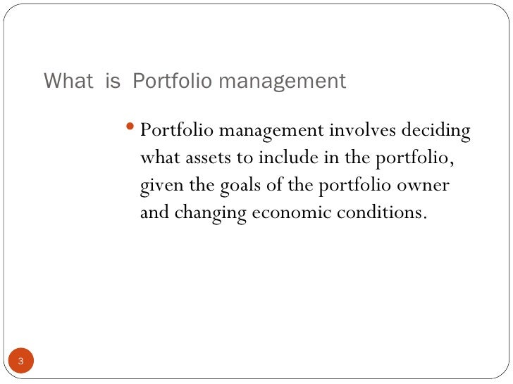 review of literature on portfolio management in shares Benefits management & benefits realisation  benefits management & benefits realisation a literature review  benefits management & benefits realisation.