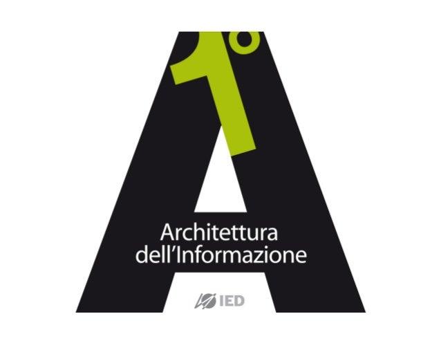 Marcello MiceliIED   MASTER ARCHITETTURA DELL'INFORMAZIONE 2012
