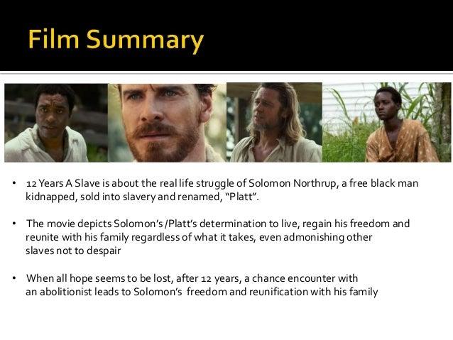 years a slave presentation cf