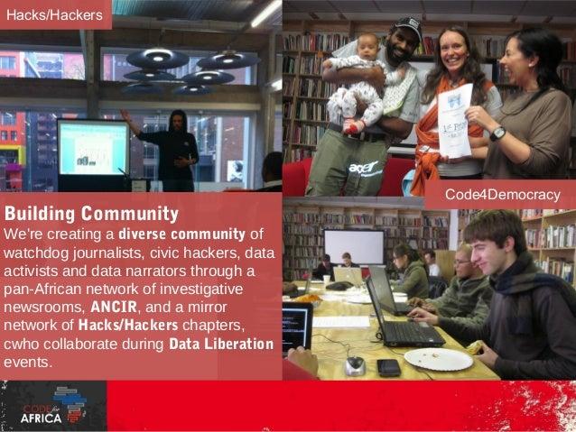 MediaParty data summits  d|Clinic project planning  #EditorsLab hackathons  https://www.facebook.com/HacksHackersAfrica