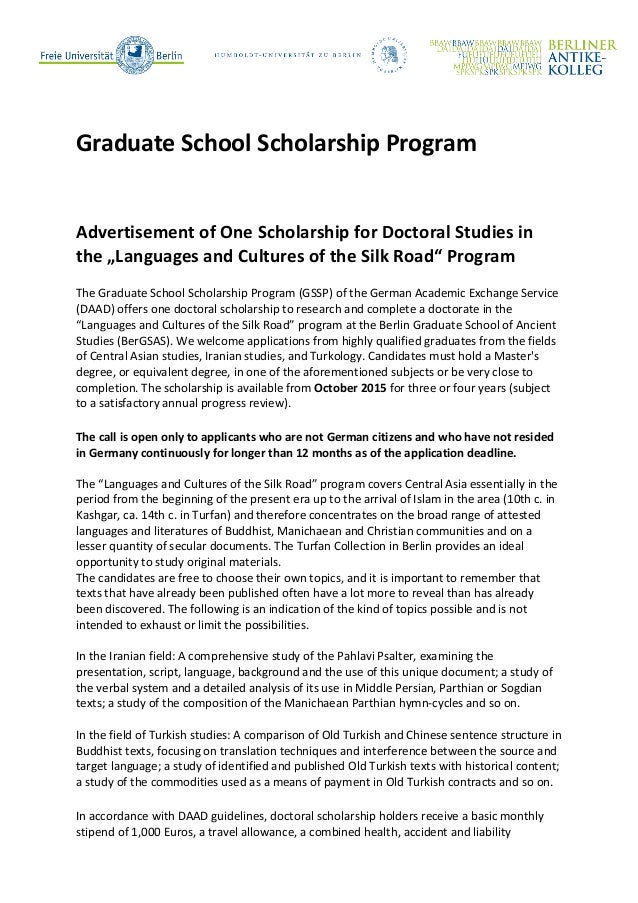 """Call for Applications: PhD fellowship for """"Languages ..."""