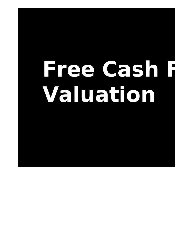 Free Cash FlowValuation