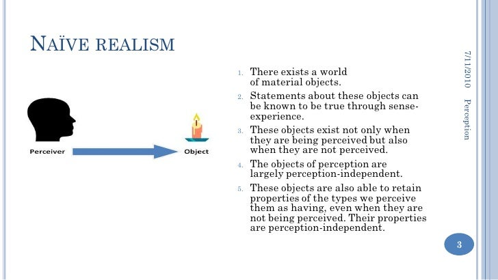 The concept of naive realism explained with everyday examples.