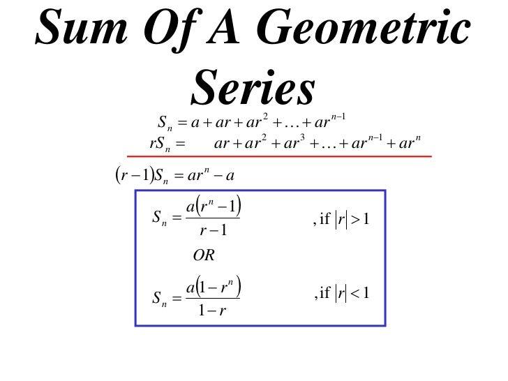 11x1 T10 06 Sum Of A Geometric Series