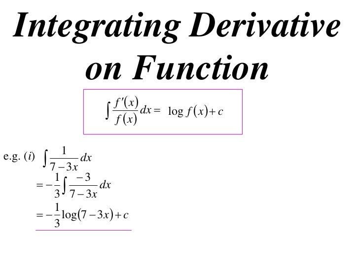 12X1 T01 03 integrating derivative on function
