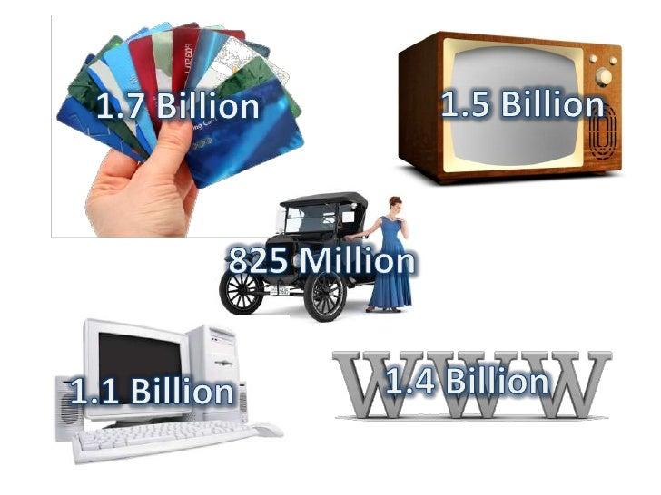 1.5 Billion<br />1.7 Billion<br />825 Million<br />1.4 Billion<br />1.1 Billion<br />