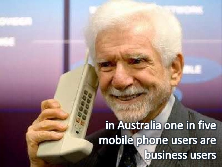 in Australia one in five mobile phone users are business users<br />