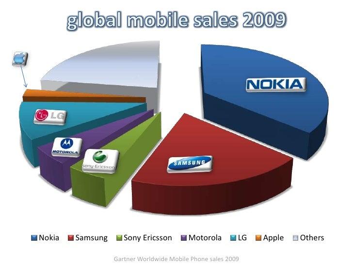 Gartner Worldwide Mobile Phone sales 2009<br />global mobile sales 2009<br />