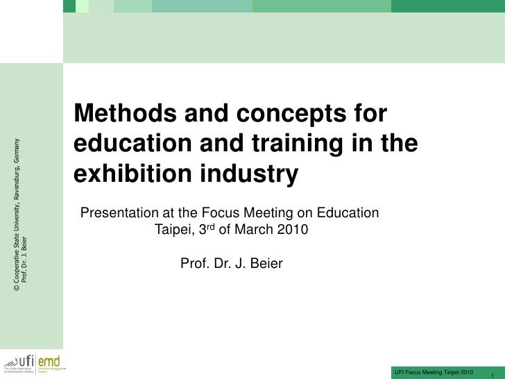 Methods and concepts for                                                       education and training in the © Cooperative...