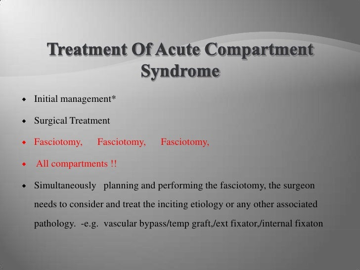 case study on compartment syndrome Case study ms was a 54-year compartment syndrome is a problem characterized by raised tissue pressure within a closed osteofascial compartment.