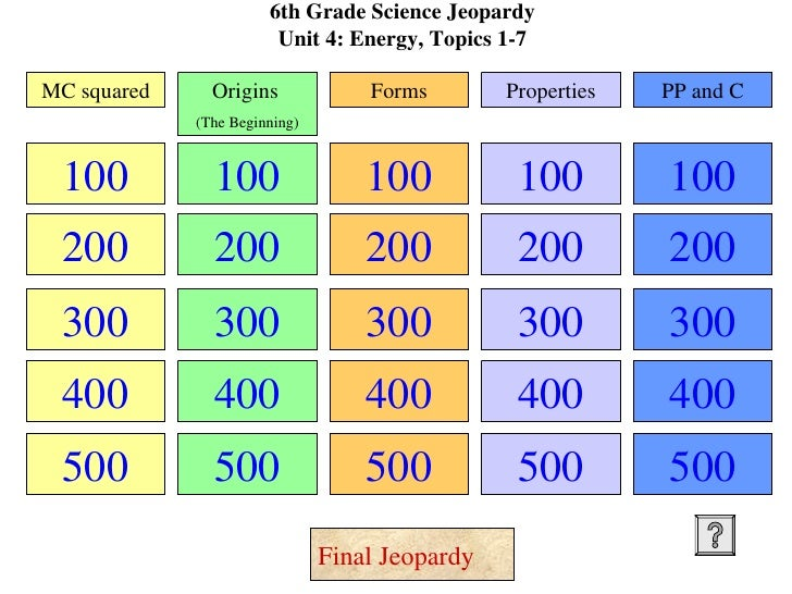grade tjs science jeopardy unit     engergy