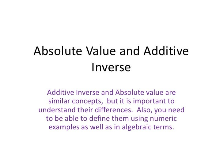 what are absolute terms
