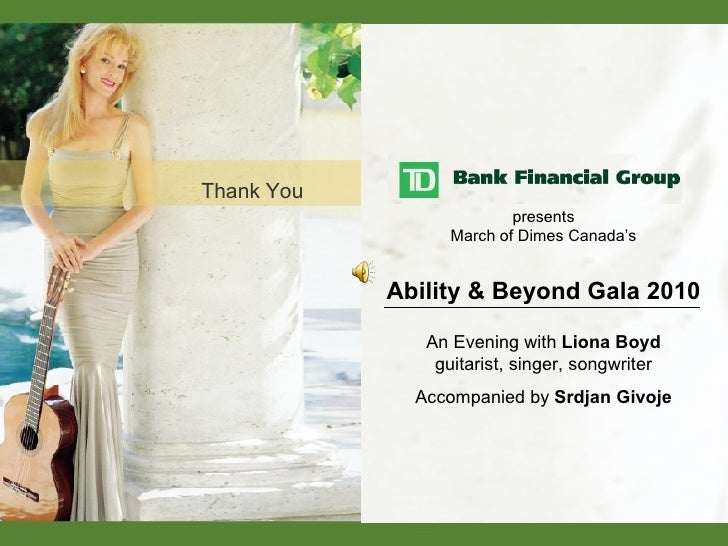 Thank You presents March of Dimes Canada's Ability & Beyond Gala 2010 An Evening with  Liona Boyd guitarist, singer, songw...
