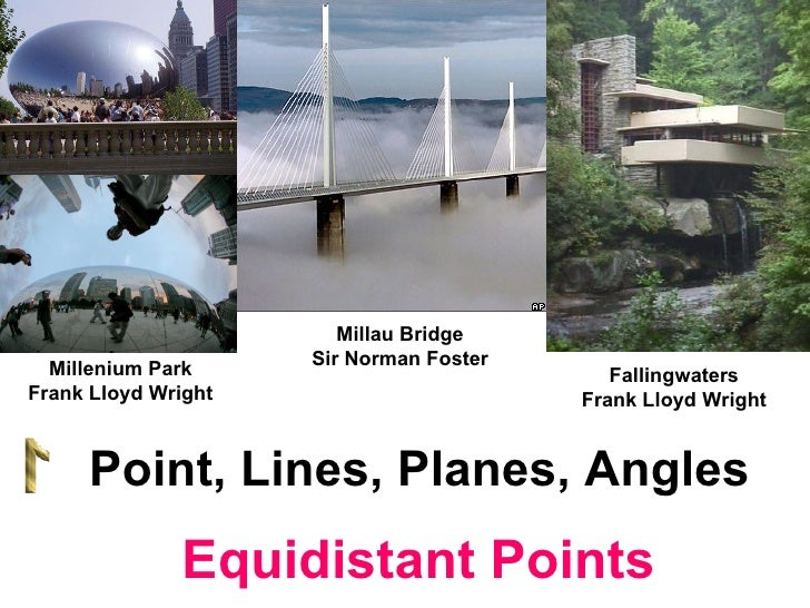 Millau Bridge Sir Norman Foster Point, Lines, Planes, Angles Fallingwaters Frank Lloyd Wright Millenium Park Frank Lloyd W...